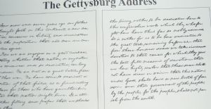 Paper Finish Abraham Lincoln's Gettysburg Address 1863